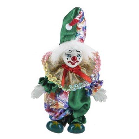 Green Sleeves and Split Green Cap Posable Clown Figure - By Ganz](Dark Knight Clowns)