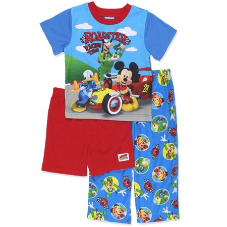 Mickey Mouse and the Roadster Racers Toddler Boys 3 piece Pajamas Set - Mickey Mouse Pajamas