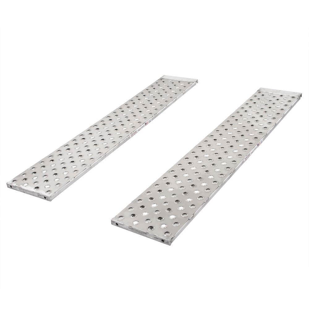Cotrell Aluminum Roller End Replacement Trailer Ramps for Car Hauler - 5,000 lb per axle Capacity