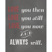 Secretly Designed Love You Textual Art Paper Print