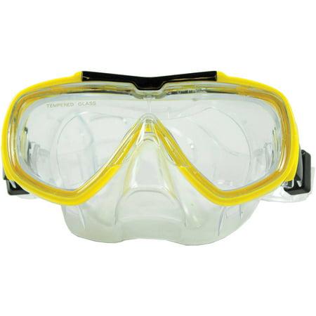 Baja Adult Scuba Swim Mask, Yellow](Yellow Black Mask Arrow)