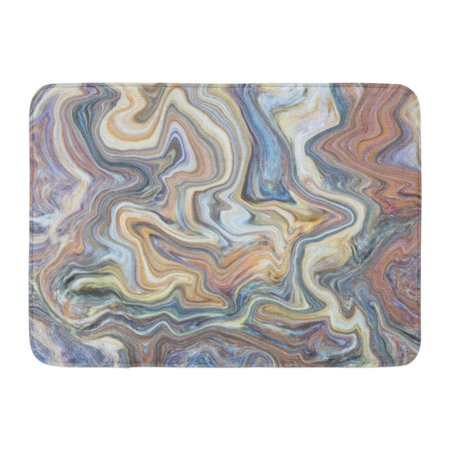 Silver Wave Mat (LADDKE Silver Abstract Multi Color of Marble Pattern Wave Effected Can and Skin Wall Other Work Space Digital Doormat Floor Rug Bath Mat 23.6x15.7 inch)