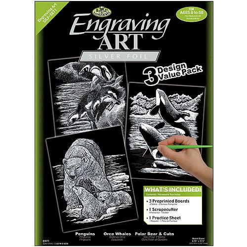 """Foil Engraving Art Kit Value Pack, 8-3/4"""" x 11-1/2"""""""