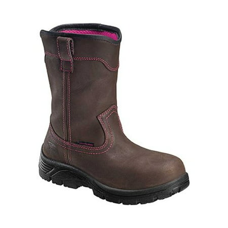 Womens Composite Toe Boot - Avenger Women's A7146 Composite Safety Toe Wellington Work Boot