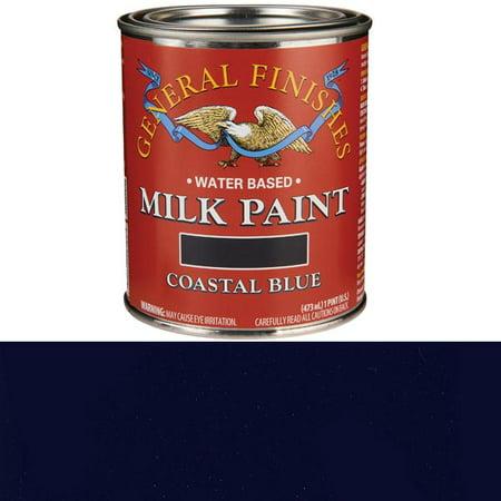 Deep Blue Finish (General Finishes, MILK PAINTS, COASTAL BLUE, Pints )