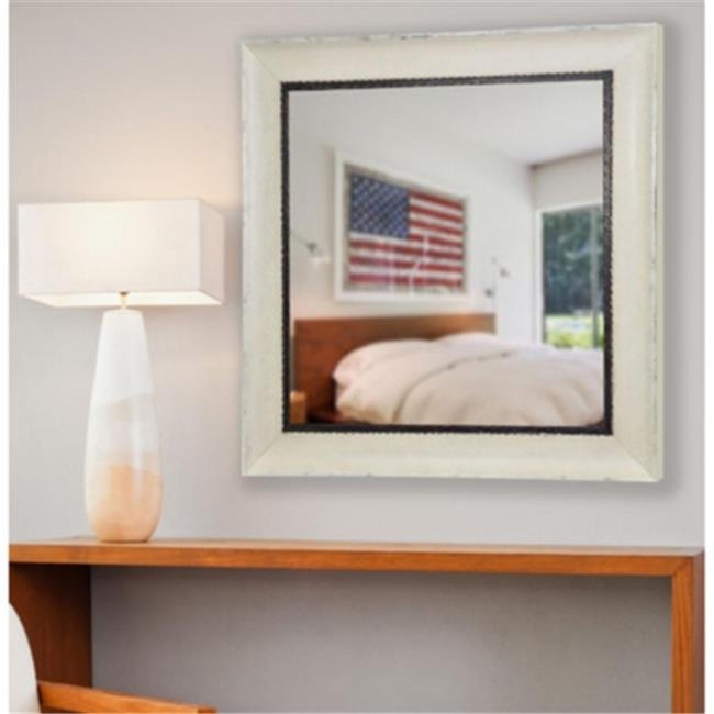 Rayne Mirrors S073MS2 American Made Audrianna Marie Jaded Ivory Square Mirror, 25.5 x 25.5 x 1.5 by Rayne Mirrors