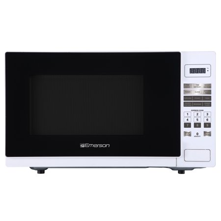 Emerson 1.1 cu. ft. 1000W, Touch Control Counter Top Microwave Oven, White (Emerson 1-1 Cu Ft 1000w Microwave Oven)