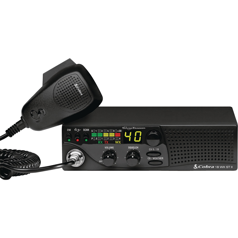 Cobra 18WXSTII Compact CB Radio with Weather & Soundtracker