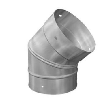 8'' Homeowners Choice 24 Gauge Stainless Steel 45'' (24 Gauge Stainless Steel Elbow)