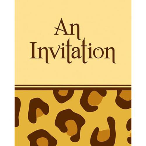 Leopard Print Party Invitations Walmartcom