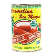 Organic Carmelina San Marzano Italian Peeled Tomatoes - Whole Peeled (14.28 ounce)