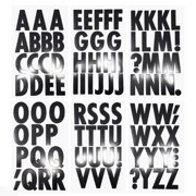 Big Font Alphabet Letter Stickers, Caps, 3-Inch, 82-Count, Black