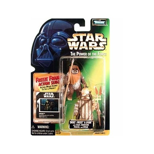 Star Wars: Power of the Force Freeze Frame > Ewoks: Wicket and Logray Action Figure - image 1 of 1