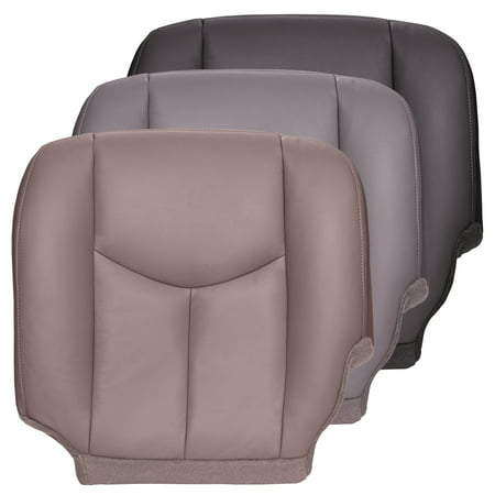 The Seat Shop Silverado Driver Bottom OEM Fit Leather Seat Cover, Gray ()