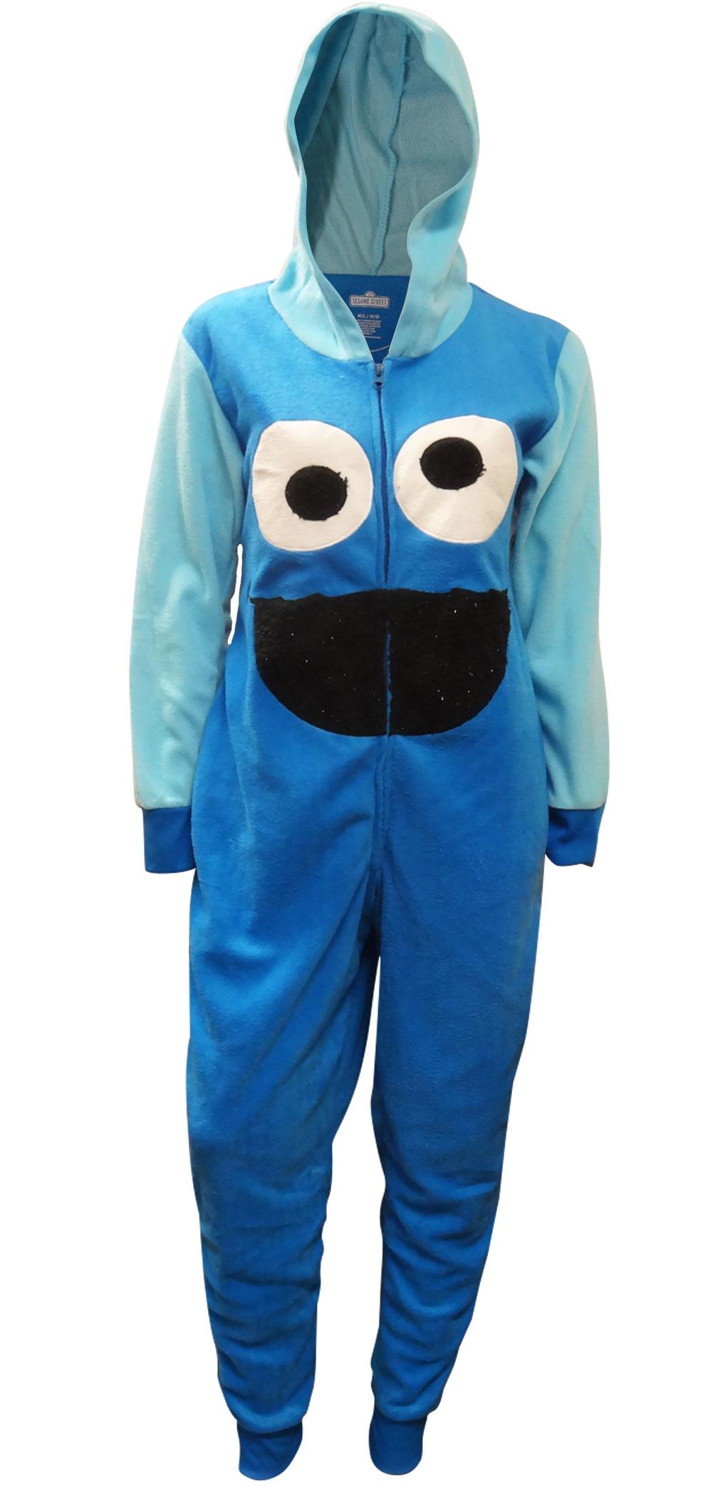 Sesame Street Cookie Monster Hooded e Piece Pajamas Walmart