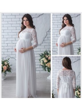 eaea7ddb9db Product Image Asian size Fashion Pregnant Women s Lace Maternity Dress Maxi  Long Photography Photo Clothes Sexy Women Long