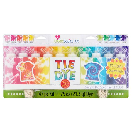 Create Basics Tie Dye Kit, 47 Piece