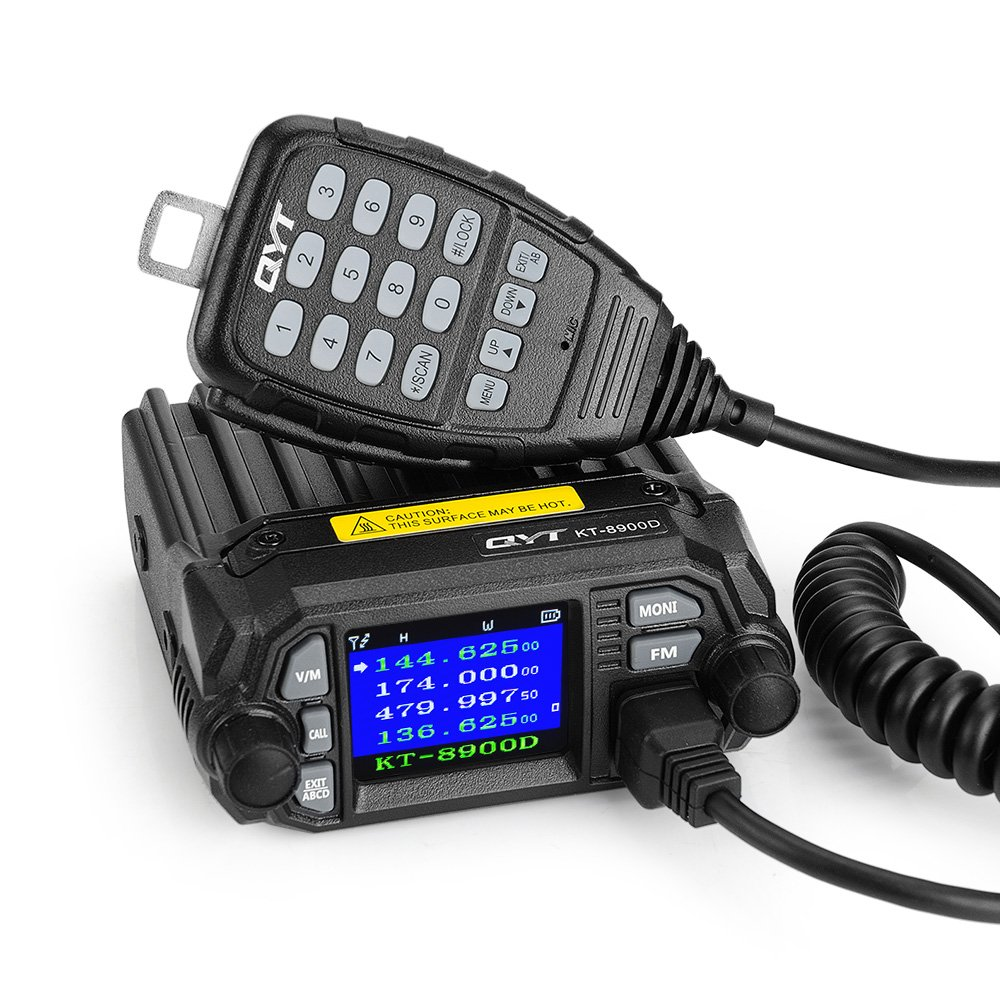 Mobile Ham Radio Amateur Radio Vehicle Transceiver,KT-8900D Dual Band Quad Standby 25W Car Ham Mobile Radio Transceiver Intercom