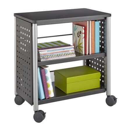 1604BL Scoot Office Library 35 Lbs Weight Capacity Unique Hole Pattern Design Perforated Steel Black Personal (Safco Model Design)