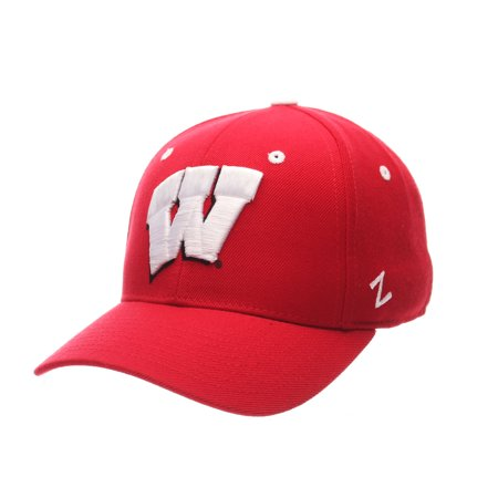 Wisconsin Badgers DH Fitted Hat (Red)