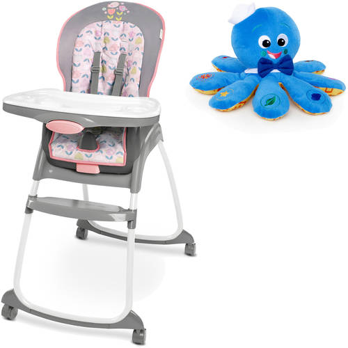 Ingenuity Trio 3-in-1 Deluxe Highchair, Ansley with BONUS Octoplush Toy