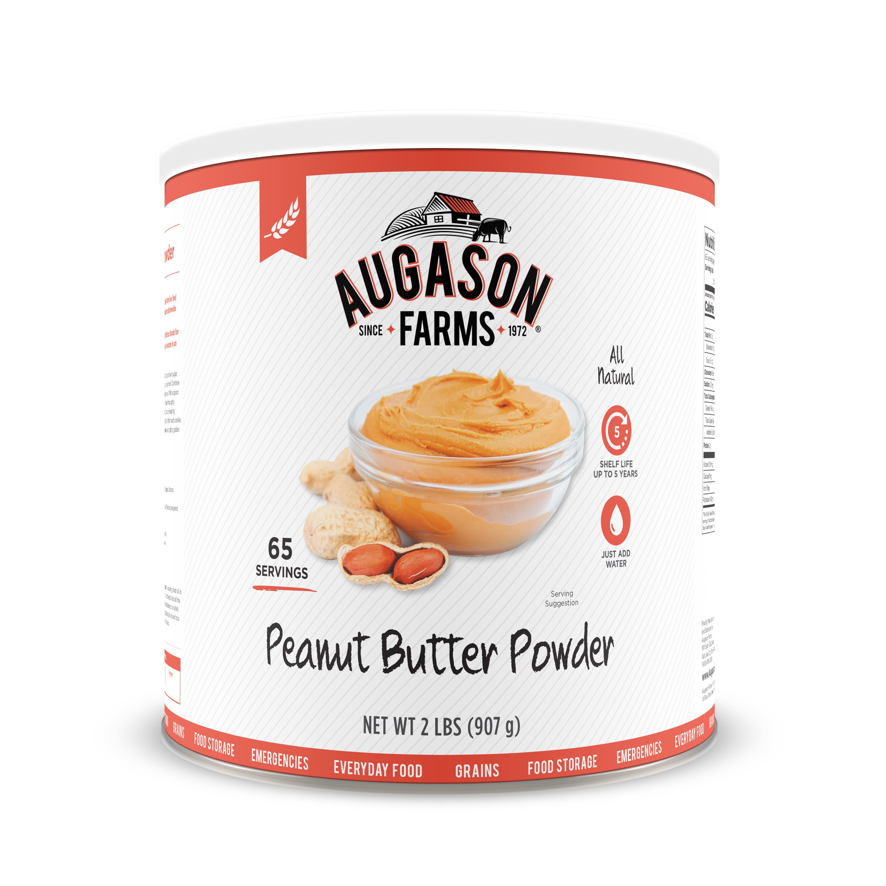 Click here to buy Augason Farms Peanut Butter Powder 2 lbs No. 10 Can by Blue Chip Group.