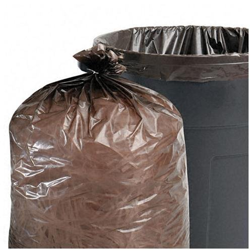 "Stout Recycled Content Trash Bags - 33 Gal - 40"" X 33"" - 1.30 Mil [33 Micron] Thickness - Plastic, Resin - 100/carton - Brown (t3340b13)"