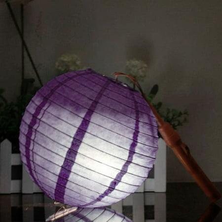 Party Paper Round Handmade DIY Hanging Decor Lantern Light Purple 16 Inch Dia - image 6 of 7