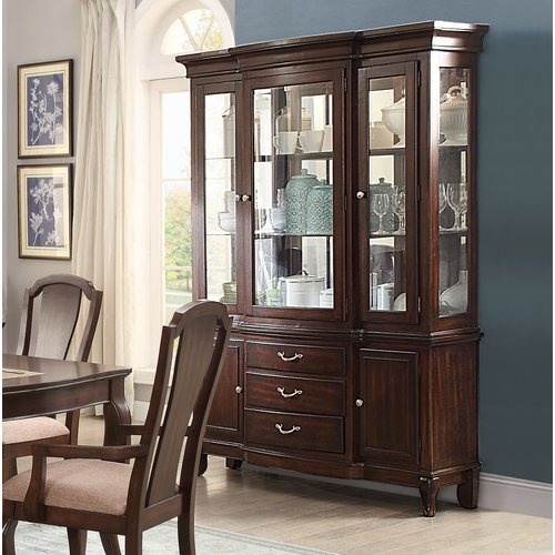 Darby Home Co Kallas Buffet Lighted China Cabinet Walmart Com