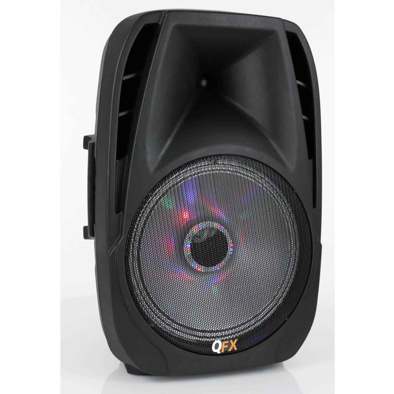 QFX Battery-Powered Bluetooth PA Speaker, Black