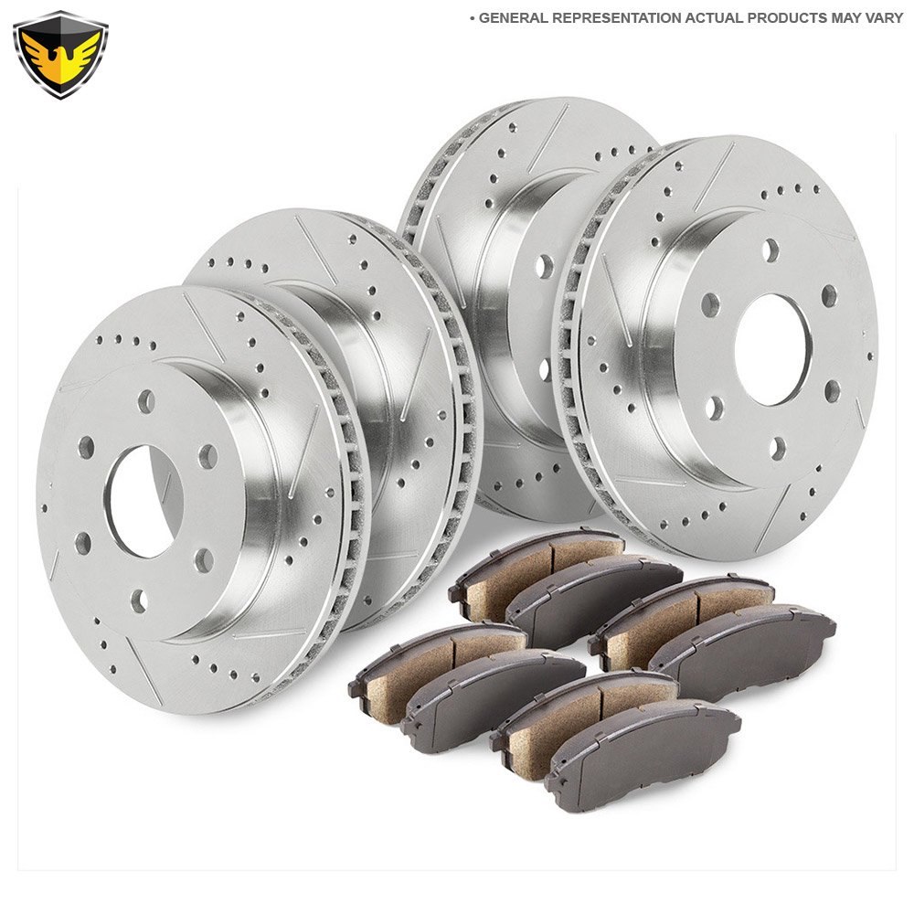 Front Rear Brake Pads And Rotors Kit For Ford Expedition Lincoln Navigator