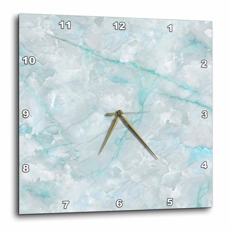 3dRose Image of Trendy Luxury Aqua Teal Quartz and Gray Gemstone Agate Geode - Wall Clock, 13 by 13-inch