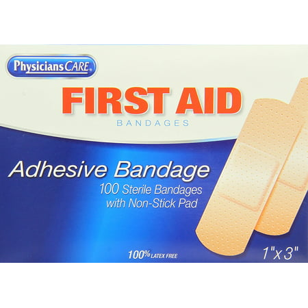 First Aid Only Plastic Bandages - PhysiciansCare by First Aid Plastic Bandages, Box of 100, 1