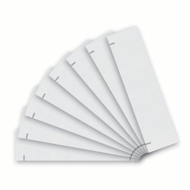 "Flipside Corrugated Project Board Header, 36"" x 10"", White, Pack of 8"