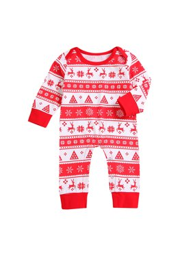 f30770e1c3d Product Image Mosunx Christmas Newborn Infant Baby Boys Girls Deer Romper  Jumpsuit Outfits Clothes
