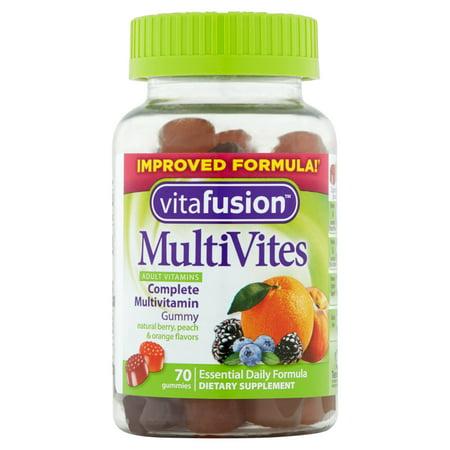 Vitafusion gélifiés Complément alimentaire multi Vites pour adultes, 70ct