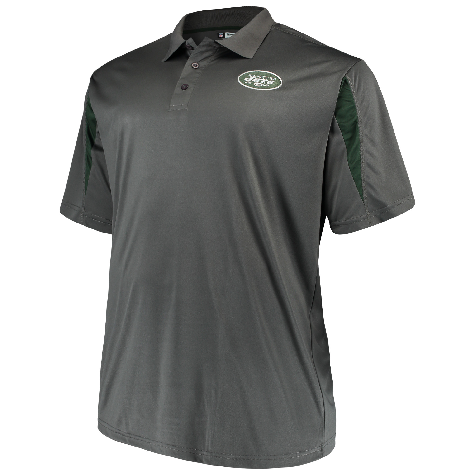 Men's Majestic Charcoal New York Jets Big & Tall Pieced Polo