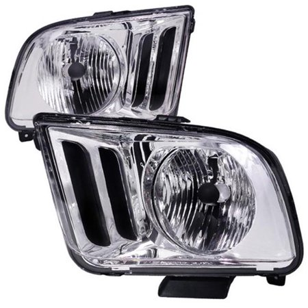Spec-D Tuning LH-MST05-RS Euro Housing Headlight for 05 to 09 Ford Mustang, Chrome - 10 x 17 x 23 in. ()