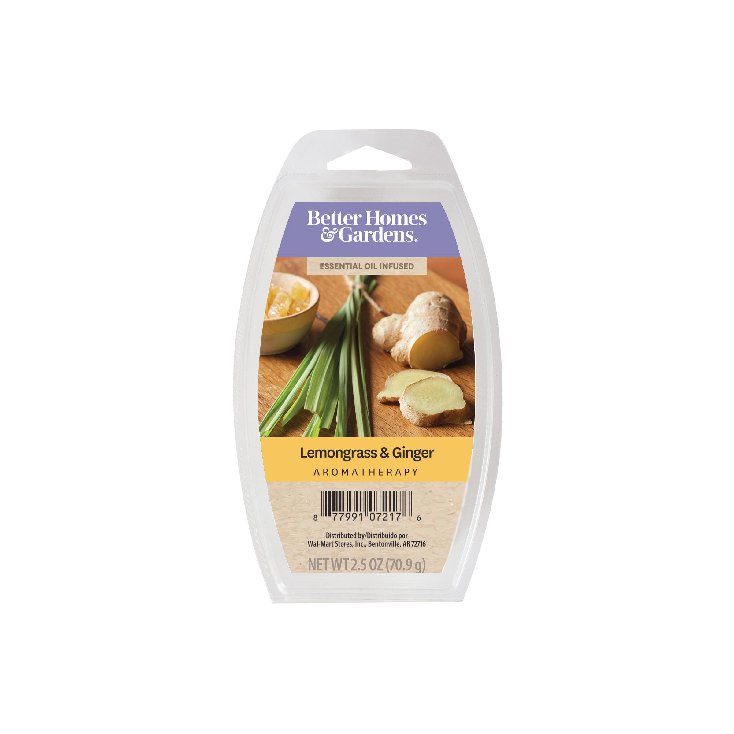 nice Lemon Grass Walmart Part - 4: Better Homes u0026 Gardens 2.5 oz Lemongrass u0026 Ginger Essential Oil Blend Wax  Melts - Walmart.com