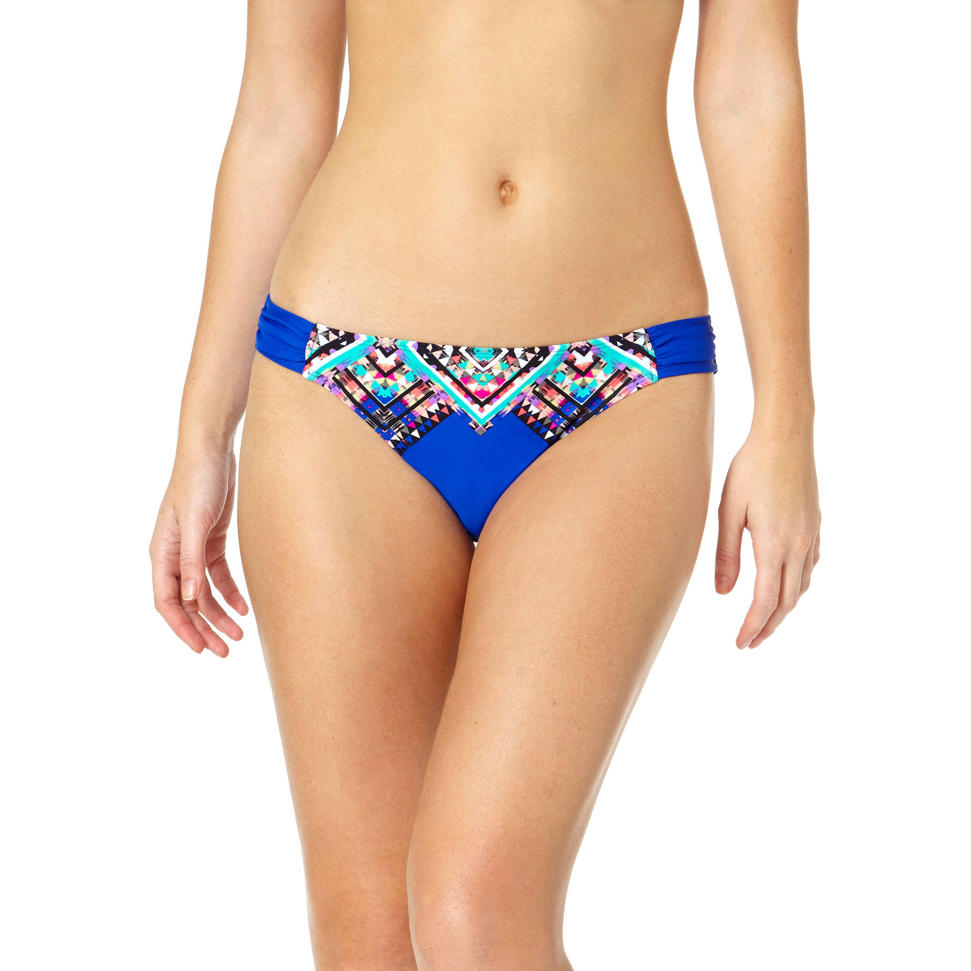 Tahiti Women's Engineered Side Tab Scoop Bikini Swimsuit Bottom