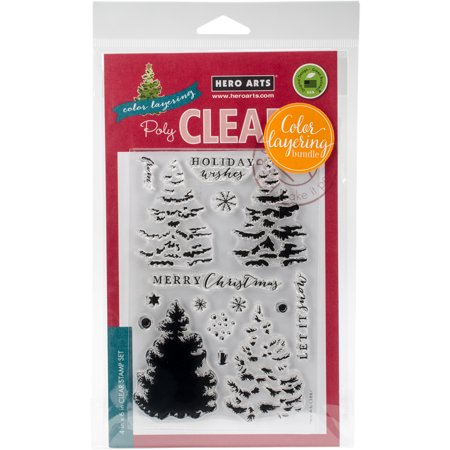 Hero Arts Clear Stamp & Die Combo-Christmas Tree - Clear Stamps