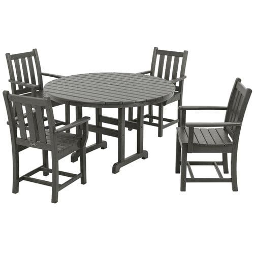 POLYWOOD® Traditional Garden Dining Set - Seats 4