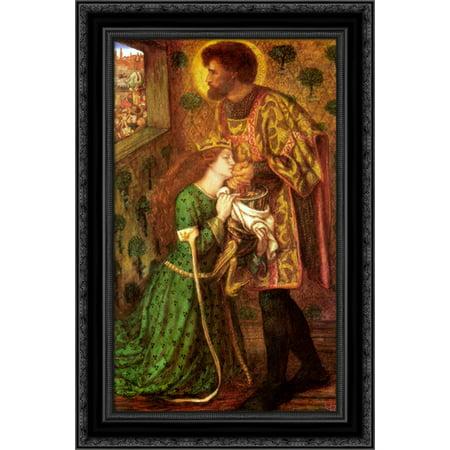 Saint George And The Princess Sabra 17X24 Black Ornate Wood Framed Canvas Art By Rossetti  Dante Gabriel