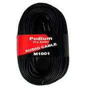 "Podium Pro M1001 Pro Audio 100 Foot Speaker Cable Two 1/4"" Jacks to Two RCA Jacks"