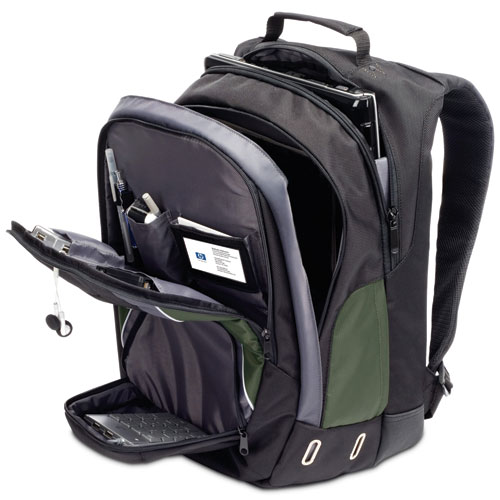 HP Notebook Backpack, Black/Green