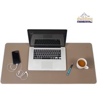 Desk Mat Black & Red 17x36 | Computer, Laptop, Keyboard & Mouse Pad Organizer | Leather Cover Office Table Protector | Double Side Gaming Surface With Colors | Typing & Writing Accessories