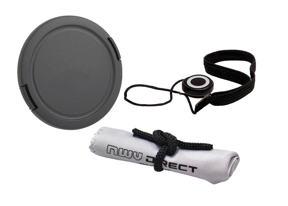+ Lens Cap Holder Lens Cap Side Pinch Nwv Direct Microfiber Cleaning Cloth For Sony Alpha Alpha NEX-5N 67mm