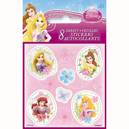 Mini Disney Princess Sticker Sheets, 8ct