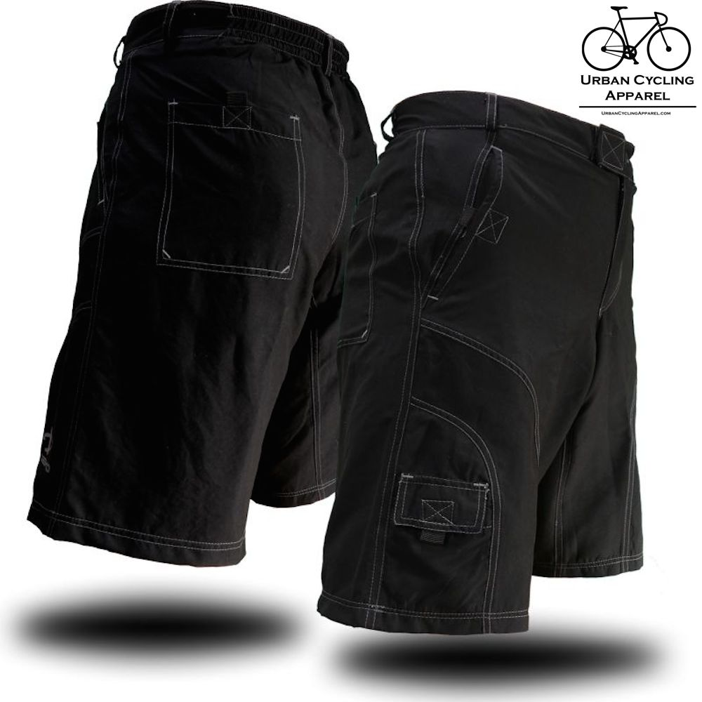 THE PUB CRAWLER - Men's Loose-Fit Bike Shorts for Commuter Cycling or Mountain Biking, with Secure Pockets and padded undershorts