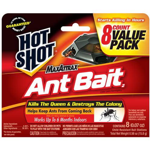 Hot Shot(r) MaxAttrax(r) Ant Bait Child-Resistant Bait Stations, 0.07 oz, 8 count